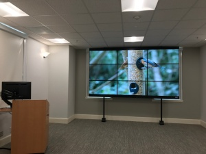 Pomona video wall and lectern